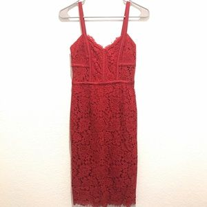 Express Red Lace Dress